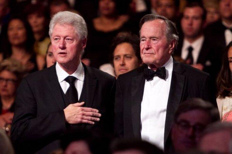 george h.w. bush and bill clinton