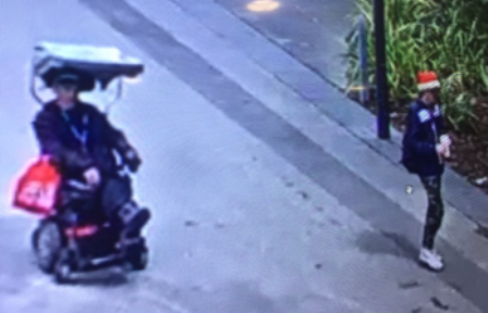 Wheelchair and suspect