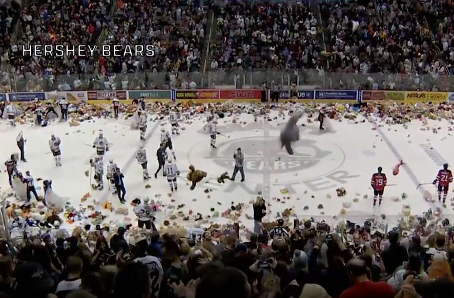 Hockey Fans Toss So Many Stuffed Animals During A Game It