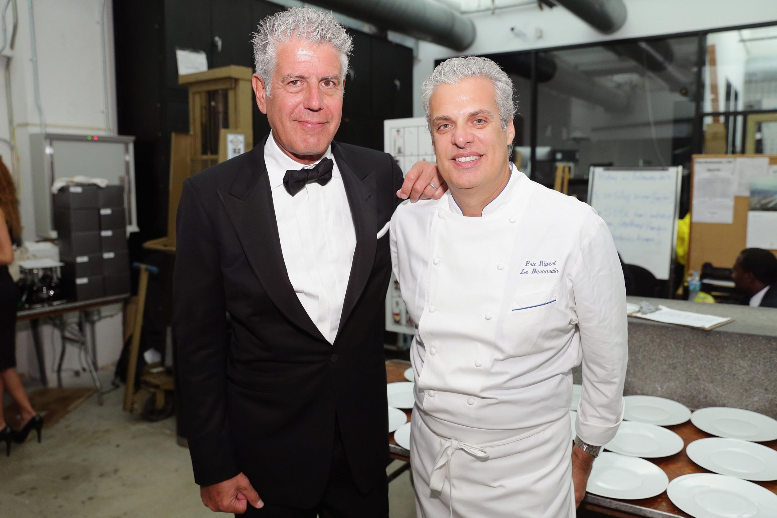 gettyimages-474090843 People Magazine and Getty Images Bourdain and Ripert Chefs