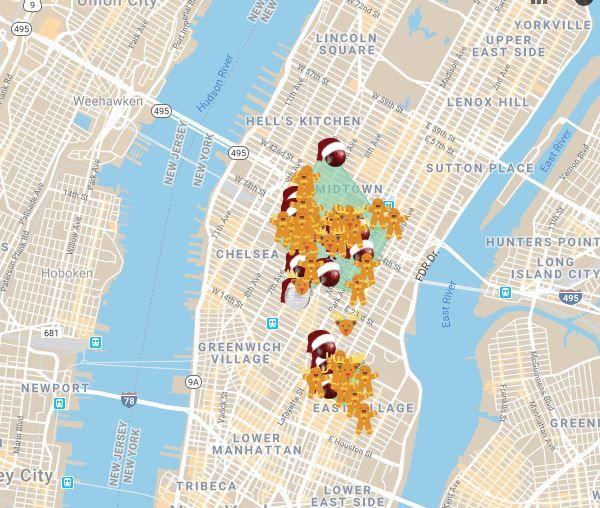 Santacon map route
