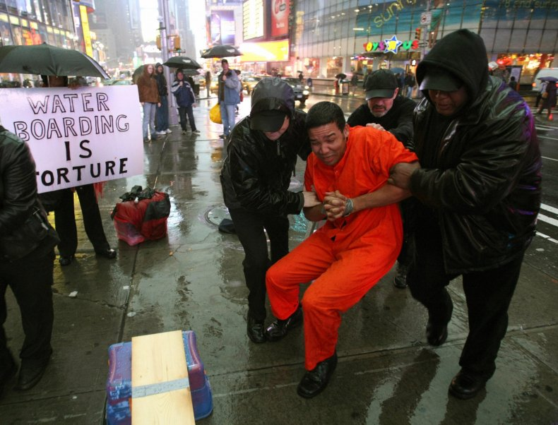 anti-torture protest new york times square