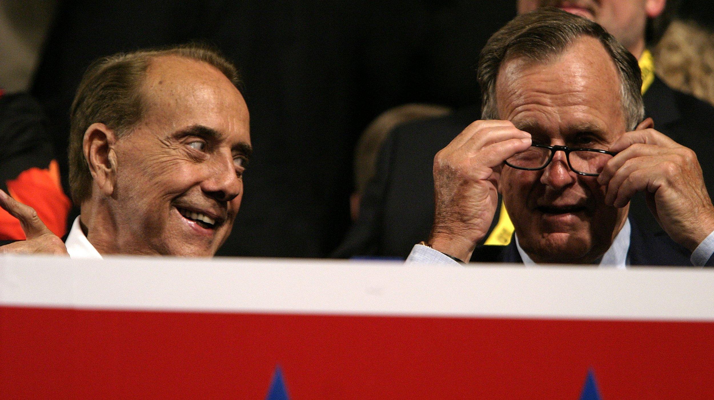 Bob Dole and George H.W. Bush