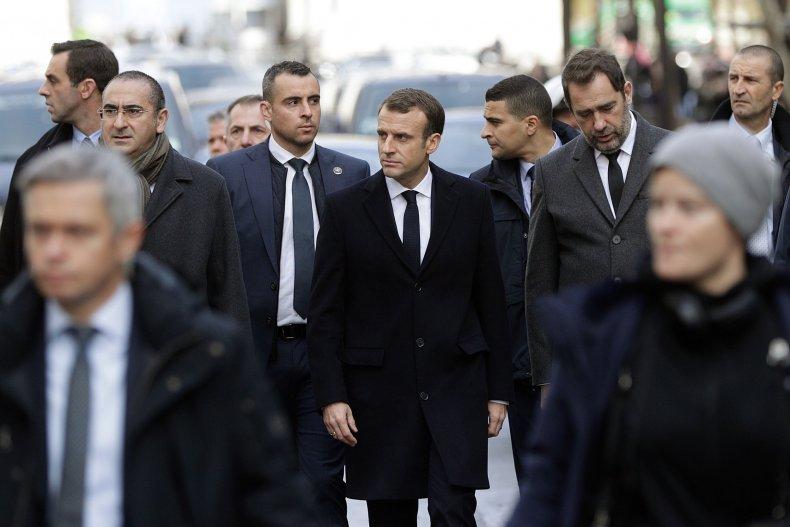Emmanuel Macron Paris Gilets Jaunes Riots