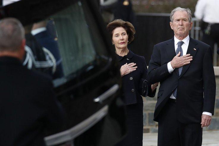 01 Bush funeral George W Laura