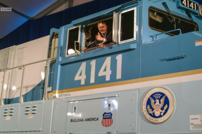 President Bush And His Train