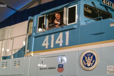 President Bush And His Train