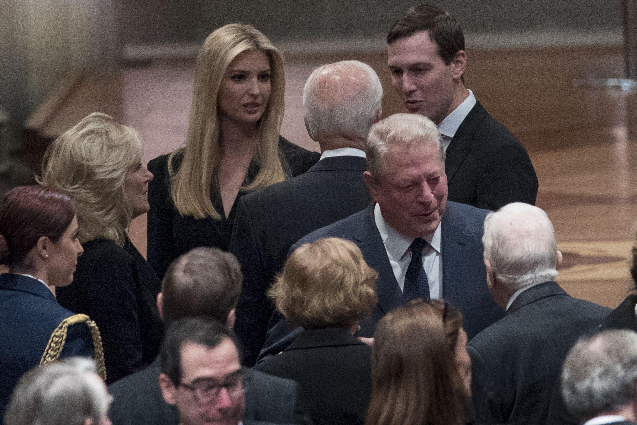 ivanka trump, chelsea clinton, george h.w. bush funeral