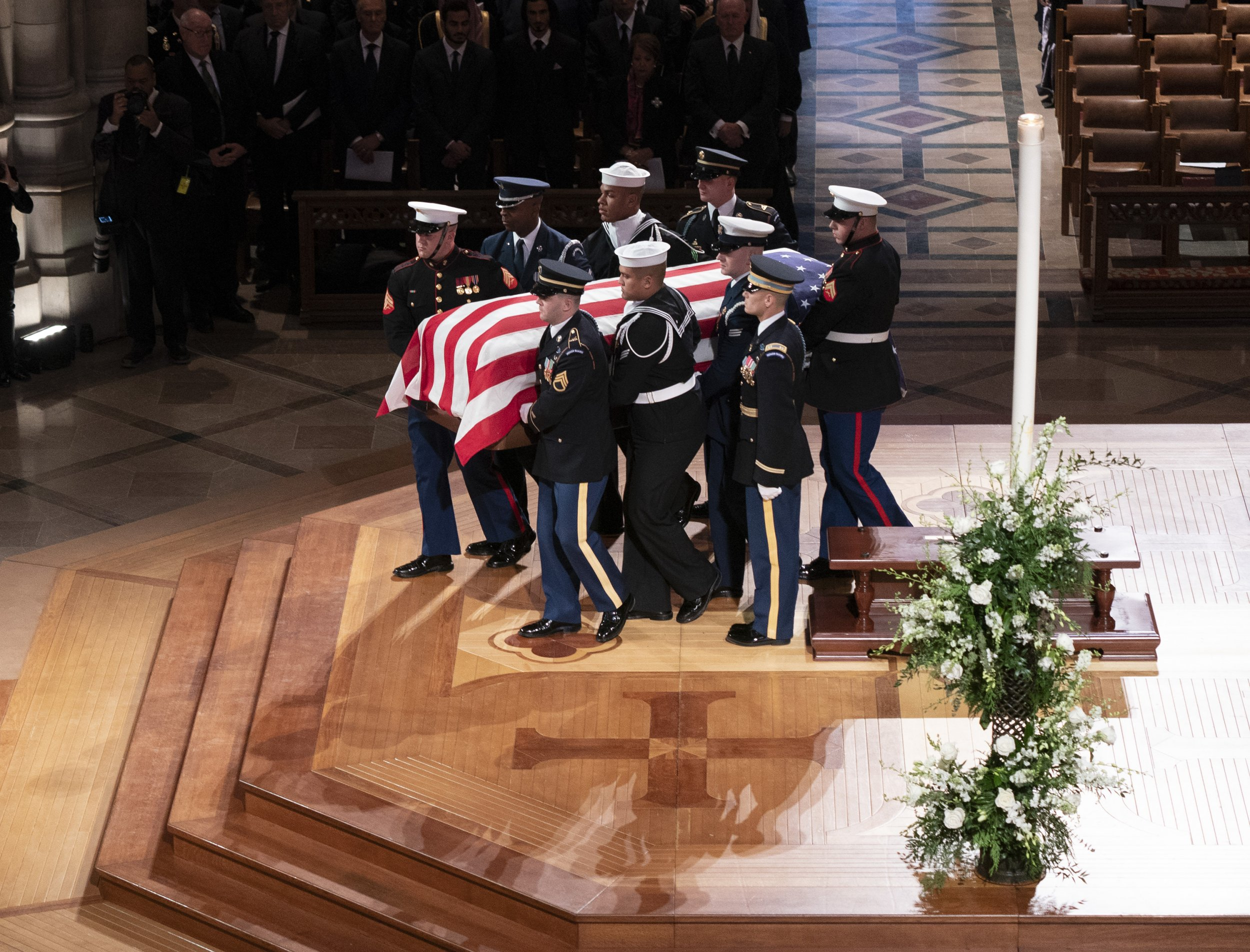 george h.w. bush funeral live stream watch