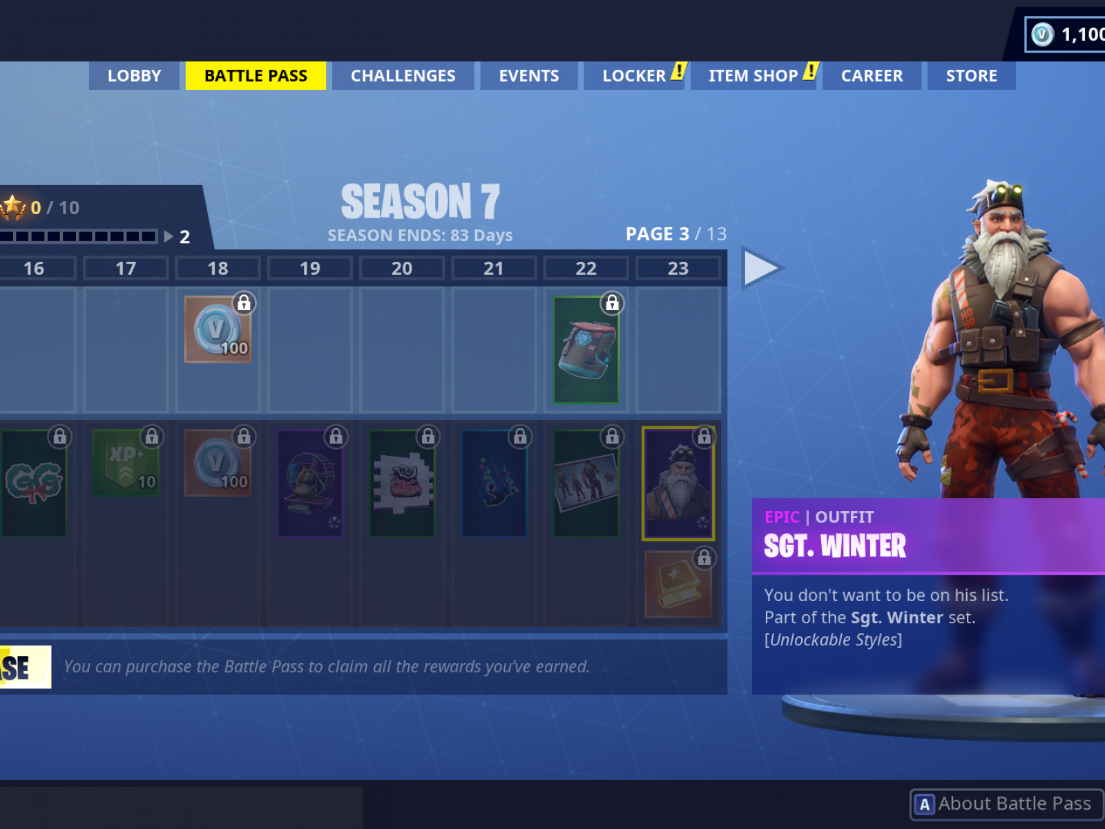 Fortnite Season 7 Battle Pass Skins Show Your Festive Cheer With