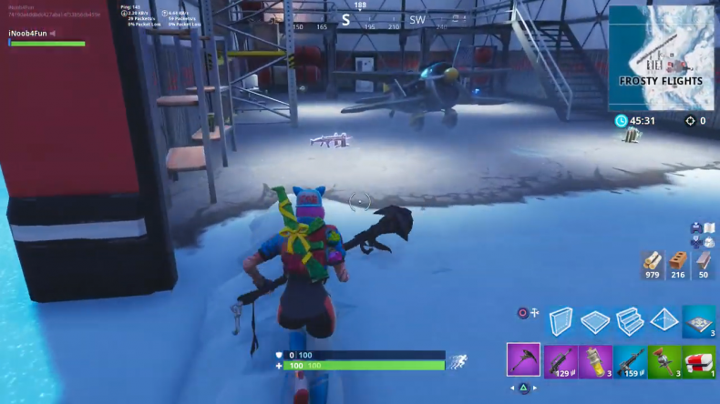 Fortnite frosty heights plane location