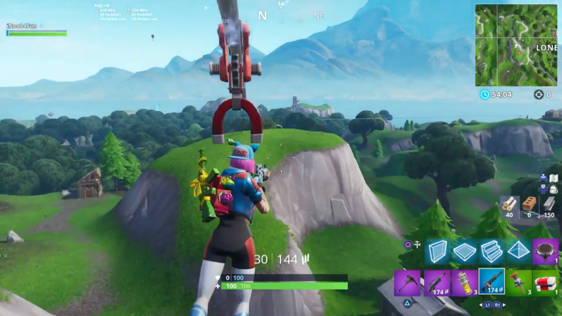 Fortnite lonely lodge plane location