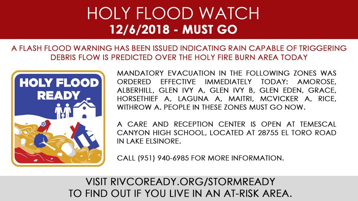 Holy Fire Flood WAtch