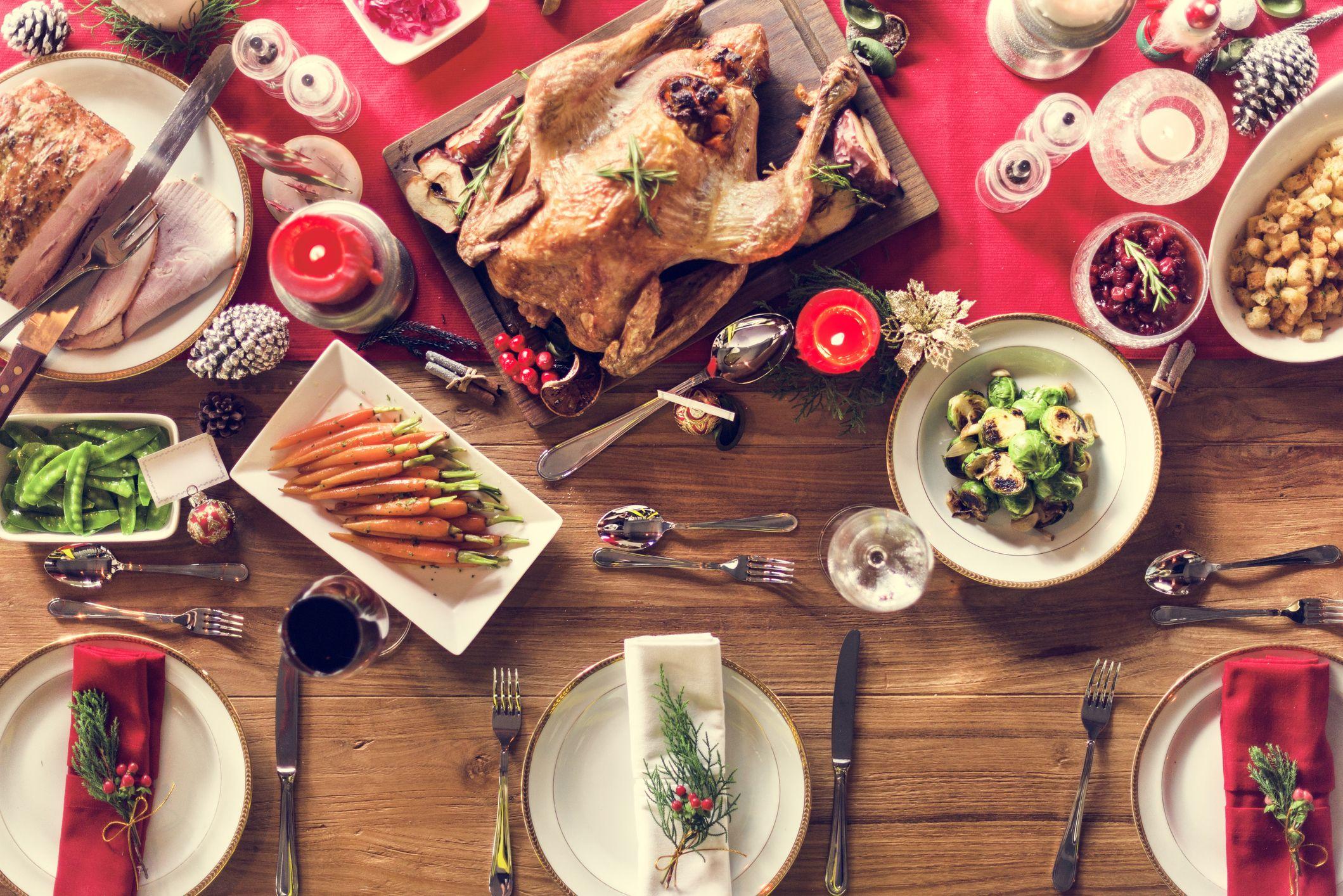christmas dinner getty stock