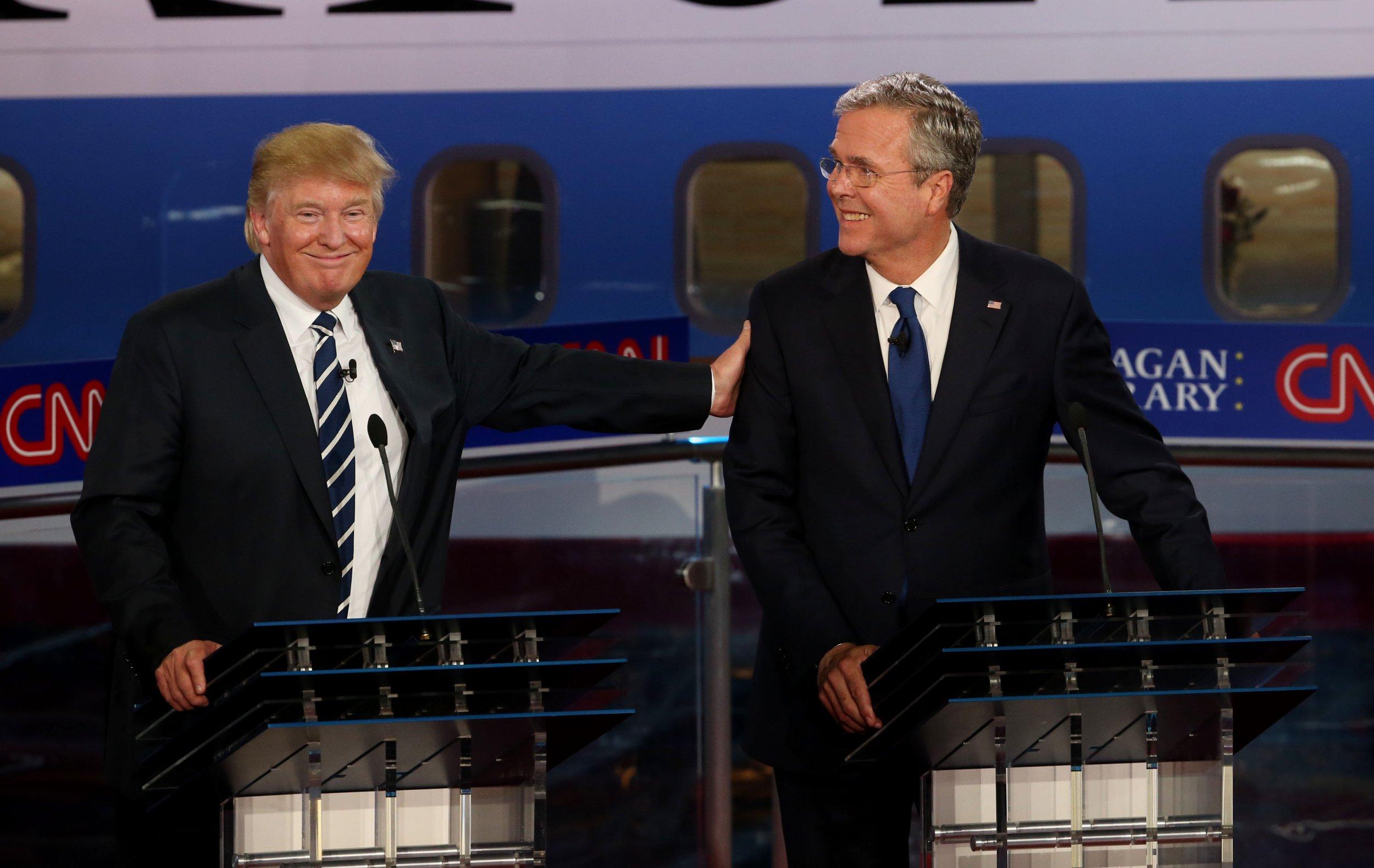 """Donald and Melania Trump """"really gracious"""" at George H.W. Bush funeral, Jeb Bush says"""