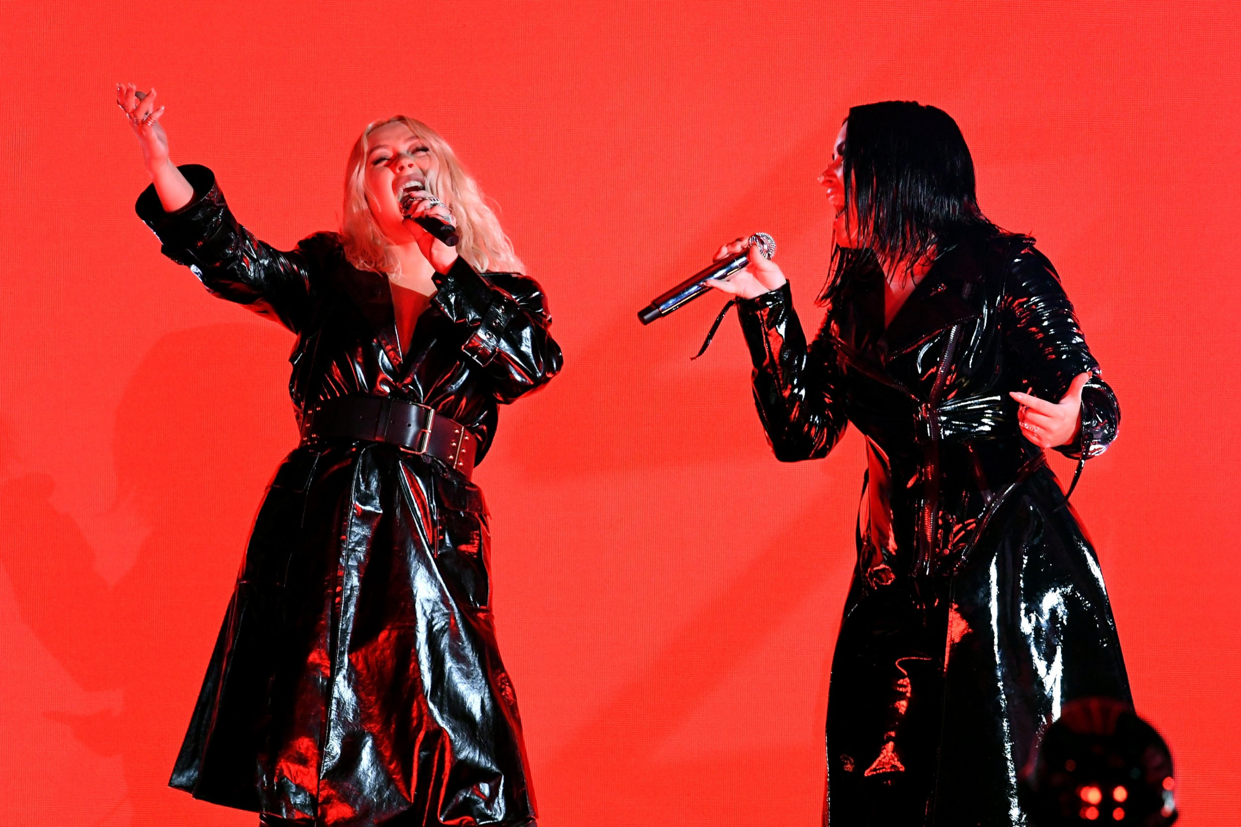 Demi Lovato and Christina Aguilera Grammy Nod