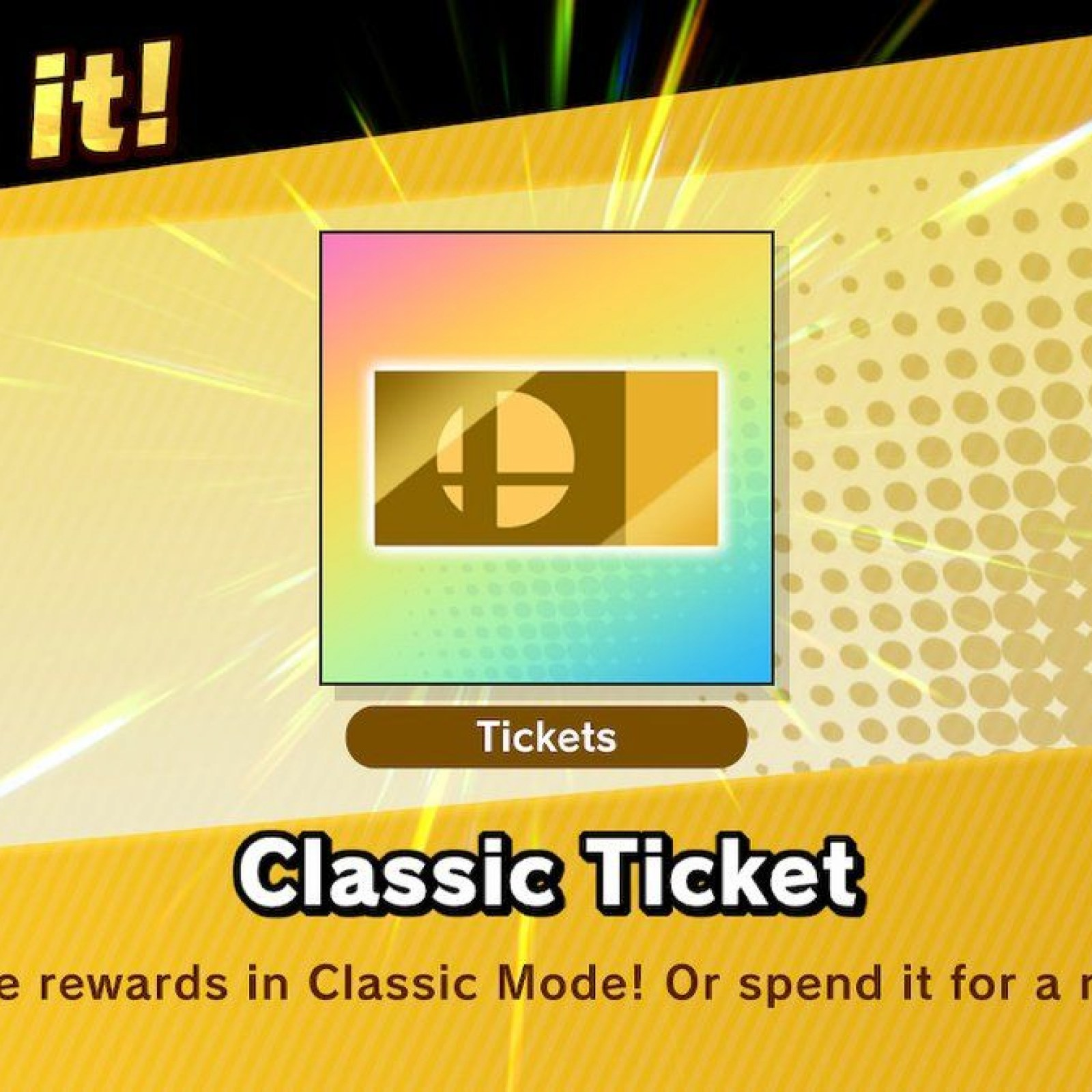 Smash Ultimate' Classic Tickets: How to Get More and What They Do
