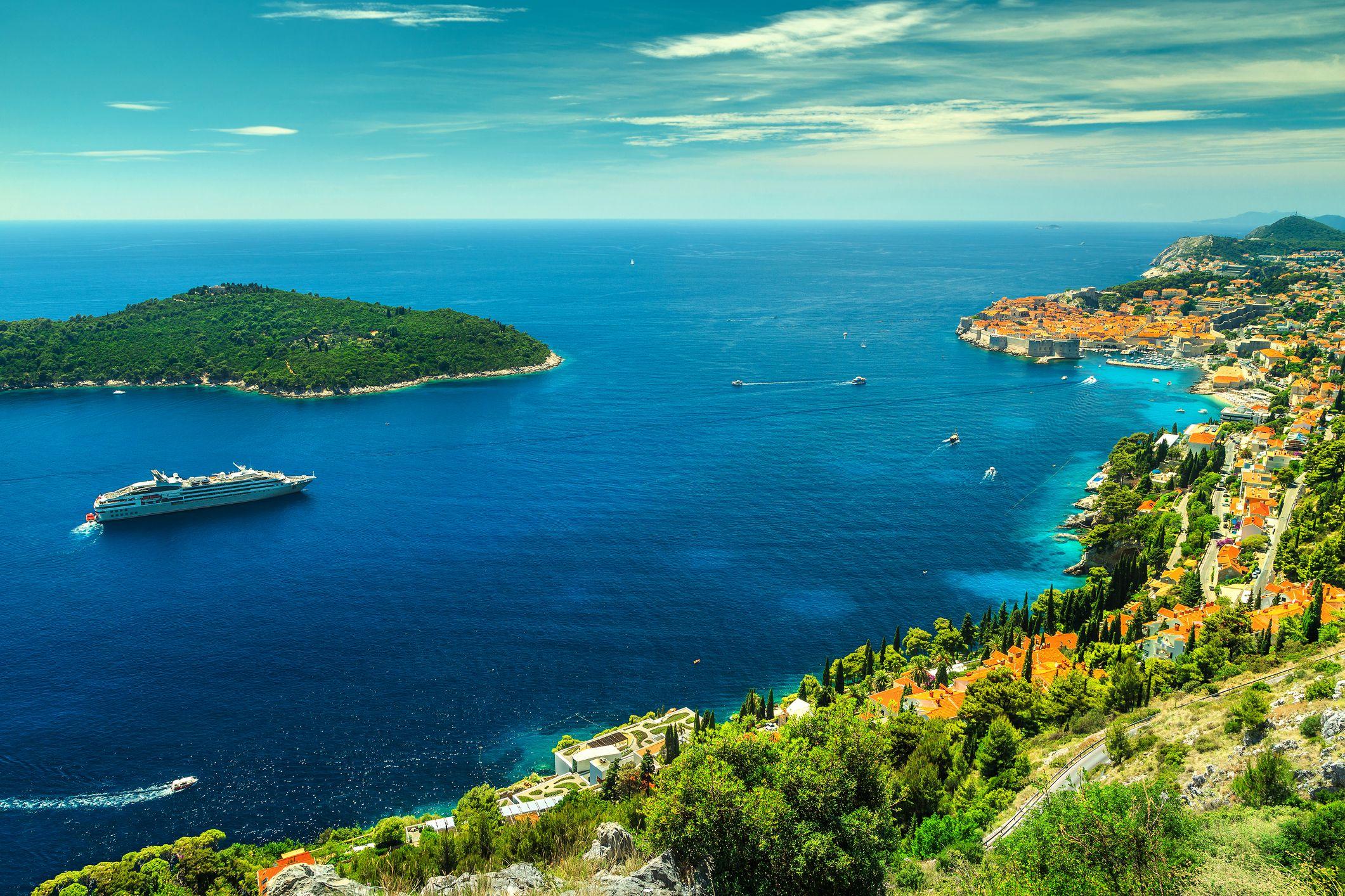 Dubrovnik, Croatia, Cruise ship