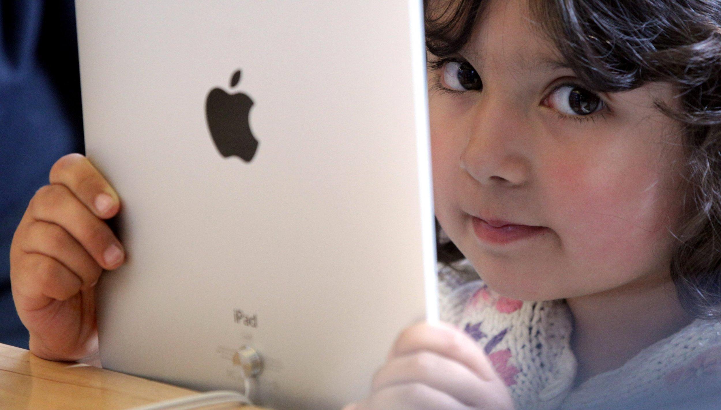 Kid and iPad