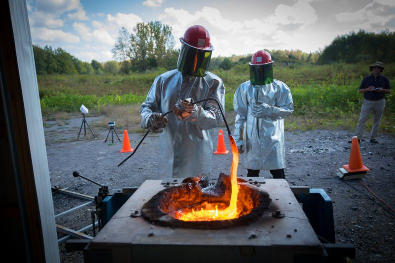 molten lava experiment