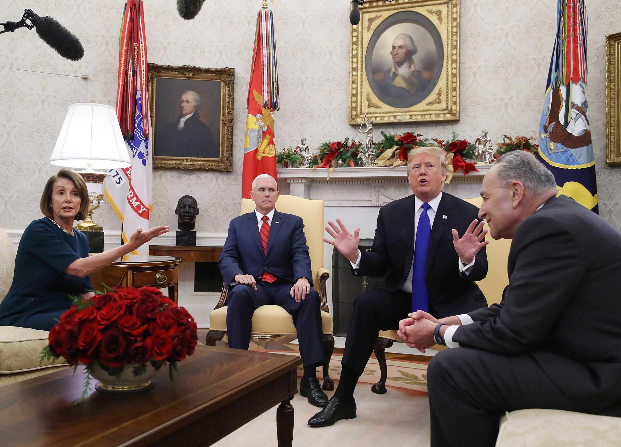 donald, trump, chuck, schumer, president