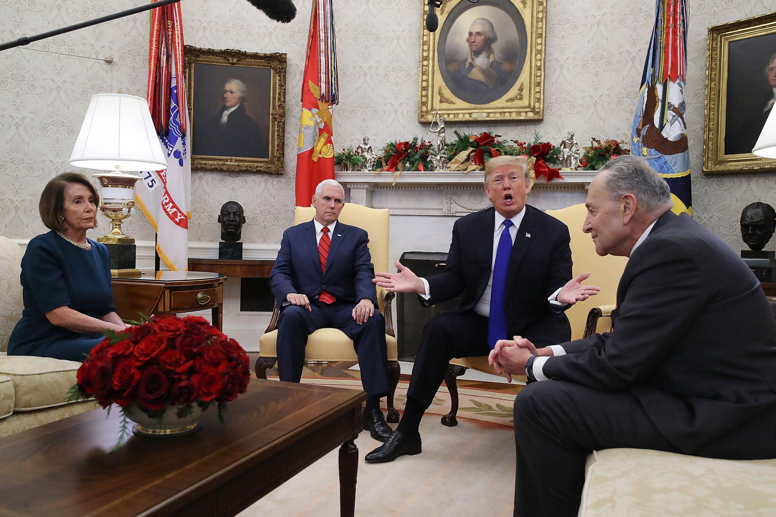 Alexandria Ocasio-Cortez, Donald Trump, Nancy Pelosi, Chuck Schumer, Mike Pence