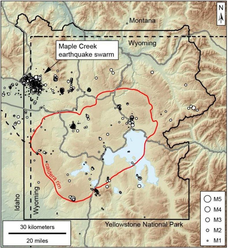 yellowstone earthquake swarm