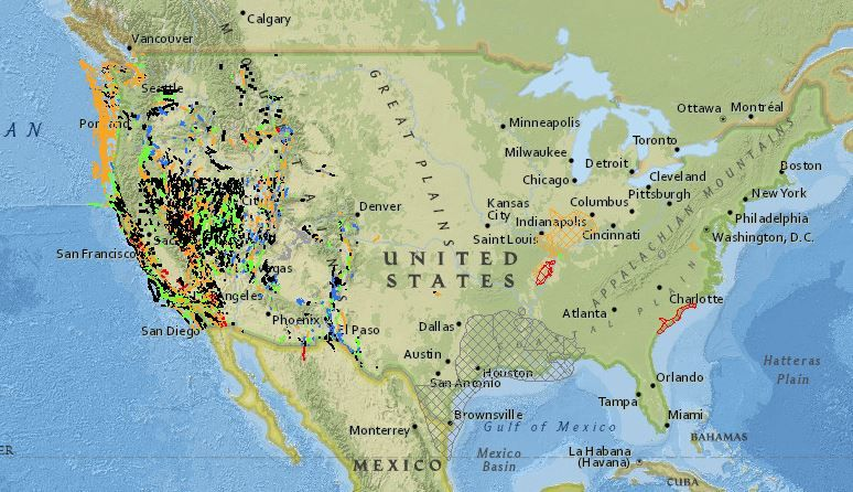 Fault Line Map In United States Usgs Facts After Tennessee Earthquake