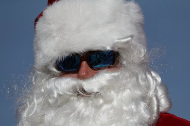 Cool Santa Claus sunglasses angry swearing children