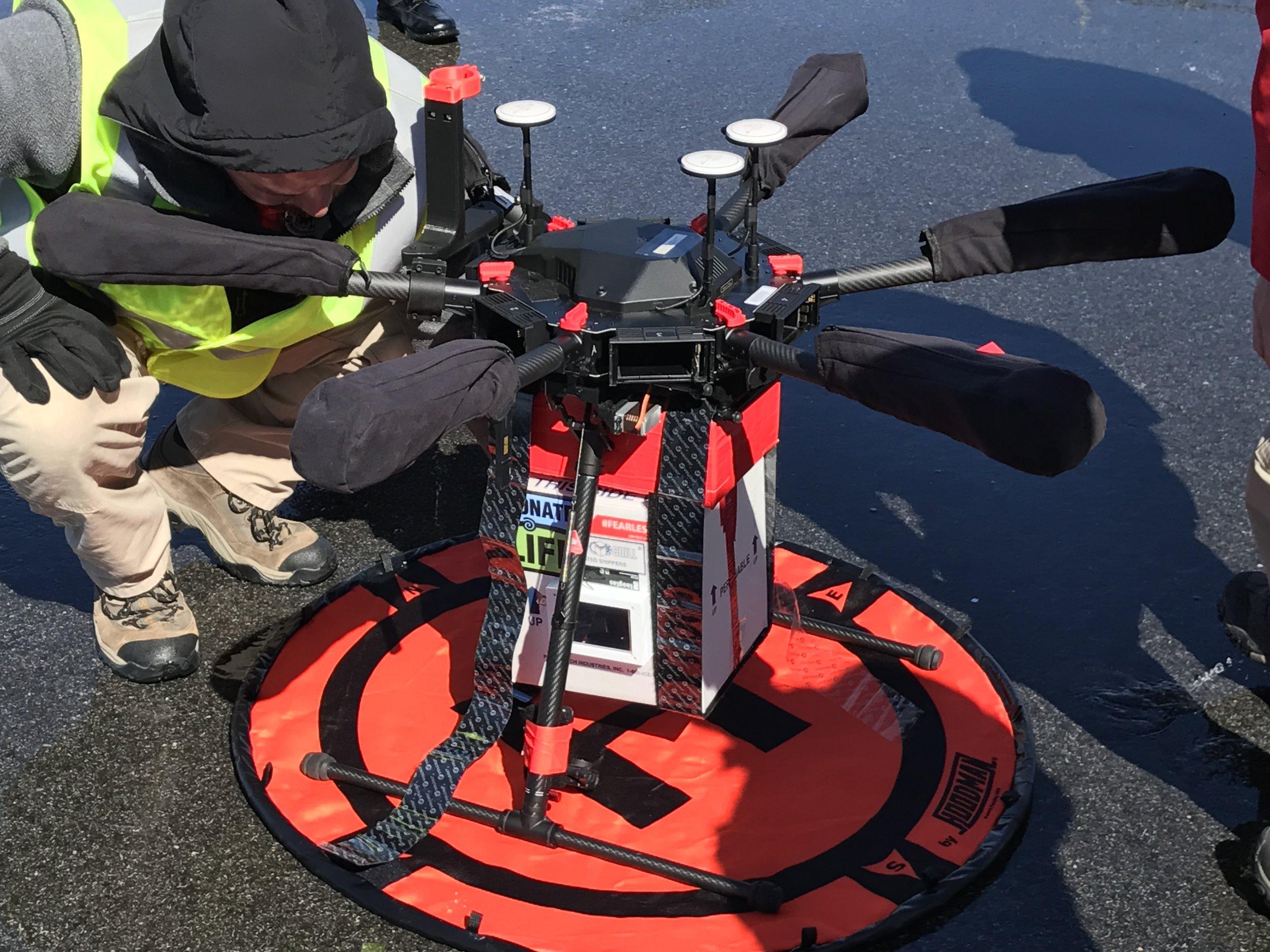 organ drone delivery HOMAL University of Maryland Joseph Scalea
