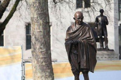 Gandhi statue, racism, Ghana, university