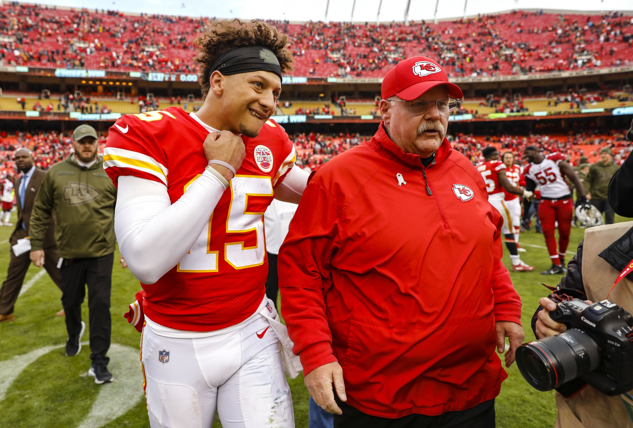Patrick Mahomes, Andy Reid, Kansas City Chiefs