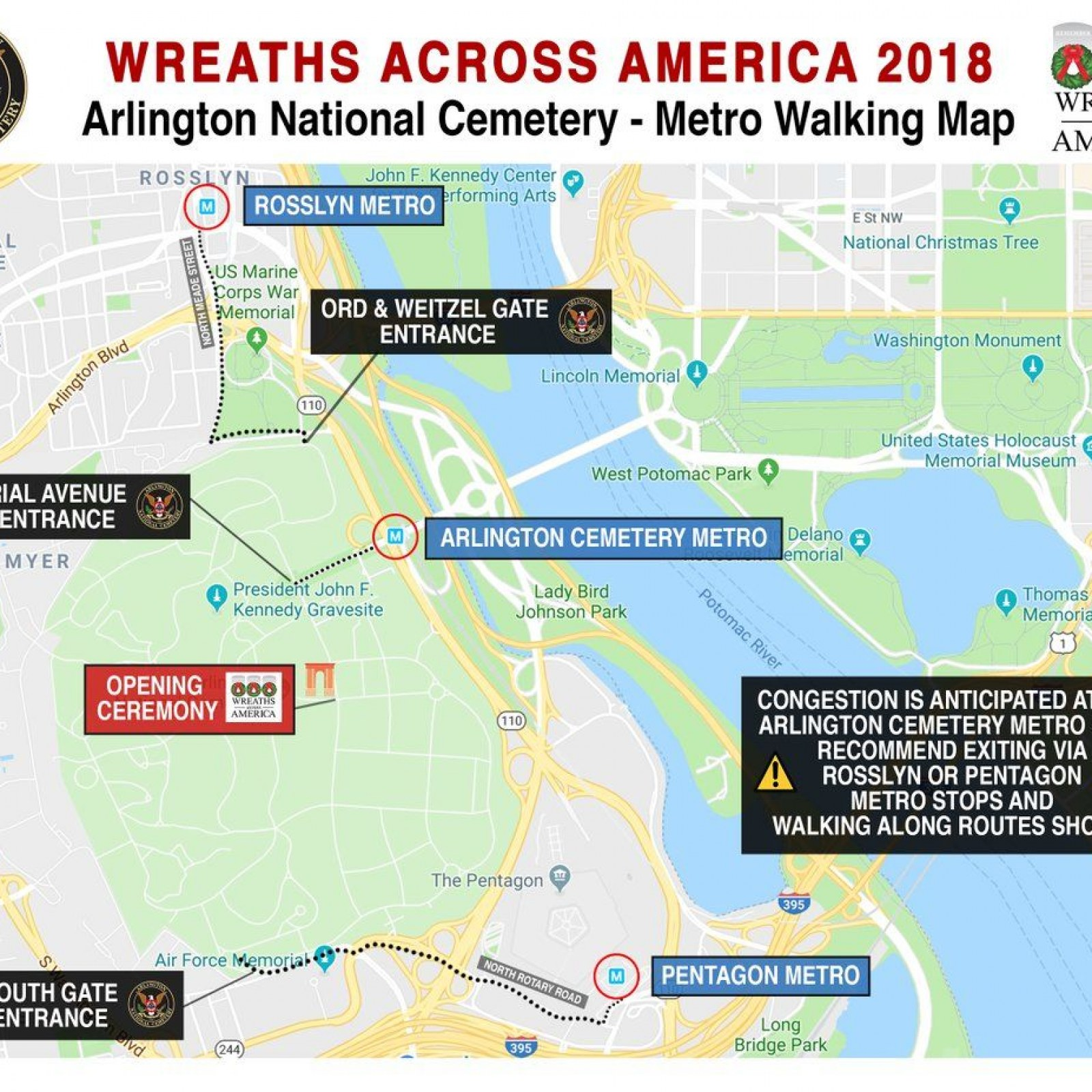 Wreaths Across America: What Is It? Routes, Map, Times for Ceremony on walking map of downtown dc, white house washington dc, map of glenwood cemetery washington dc, map of dc monuments, map of arlington cemetery map pdf, map of dc attractions walking, smithsonian natural history museum washington dc,