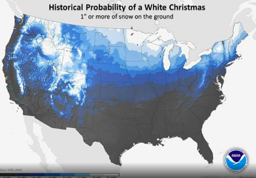 White Christmas Historical Odds