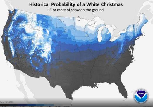 White Christmas Historical Odds