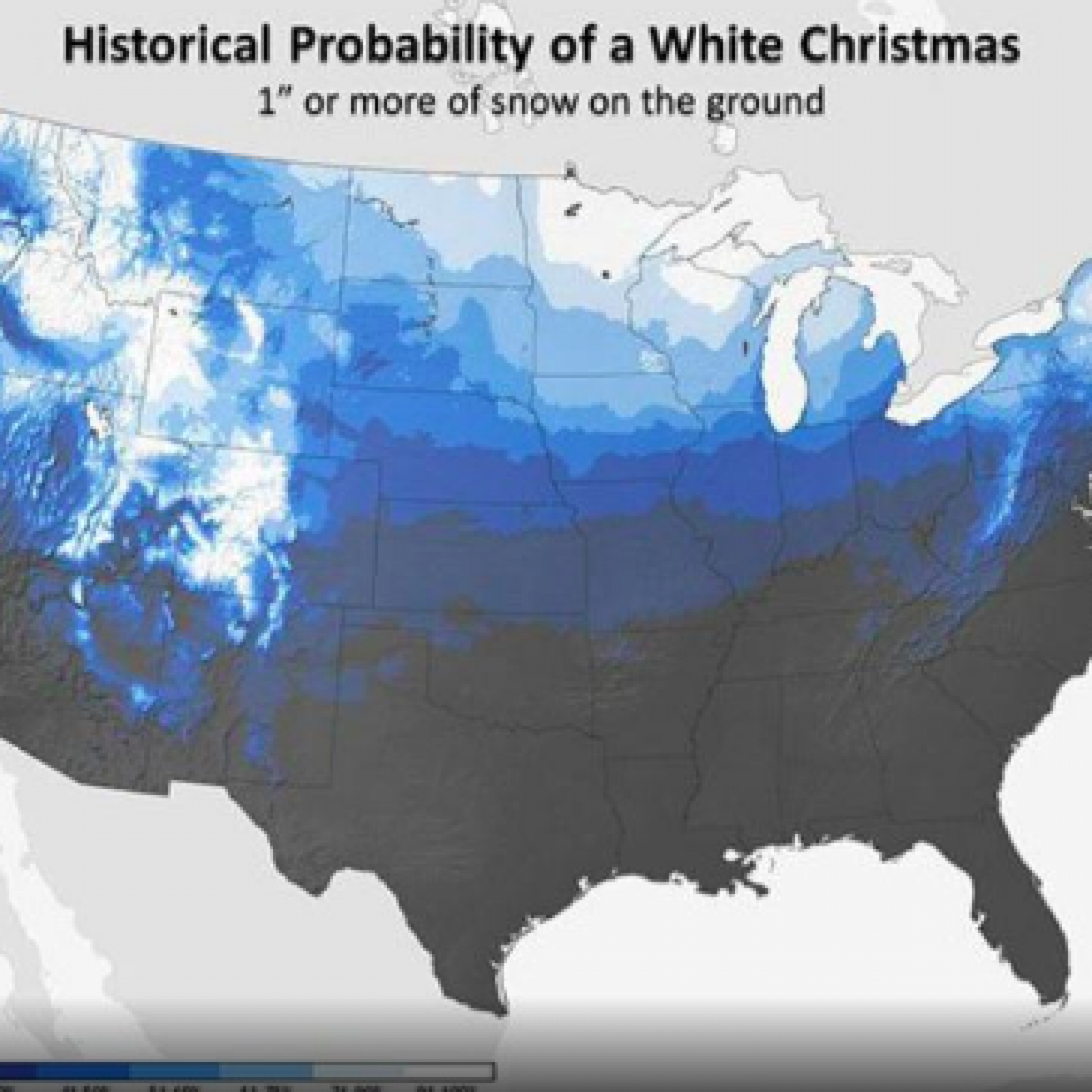 White Christmas Forecast.Who S Likely Getting A White Christmas This Year Us