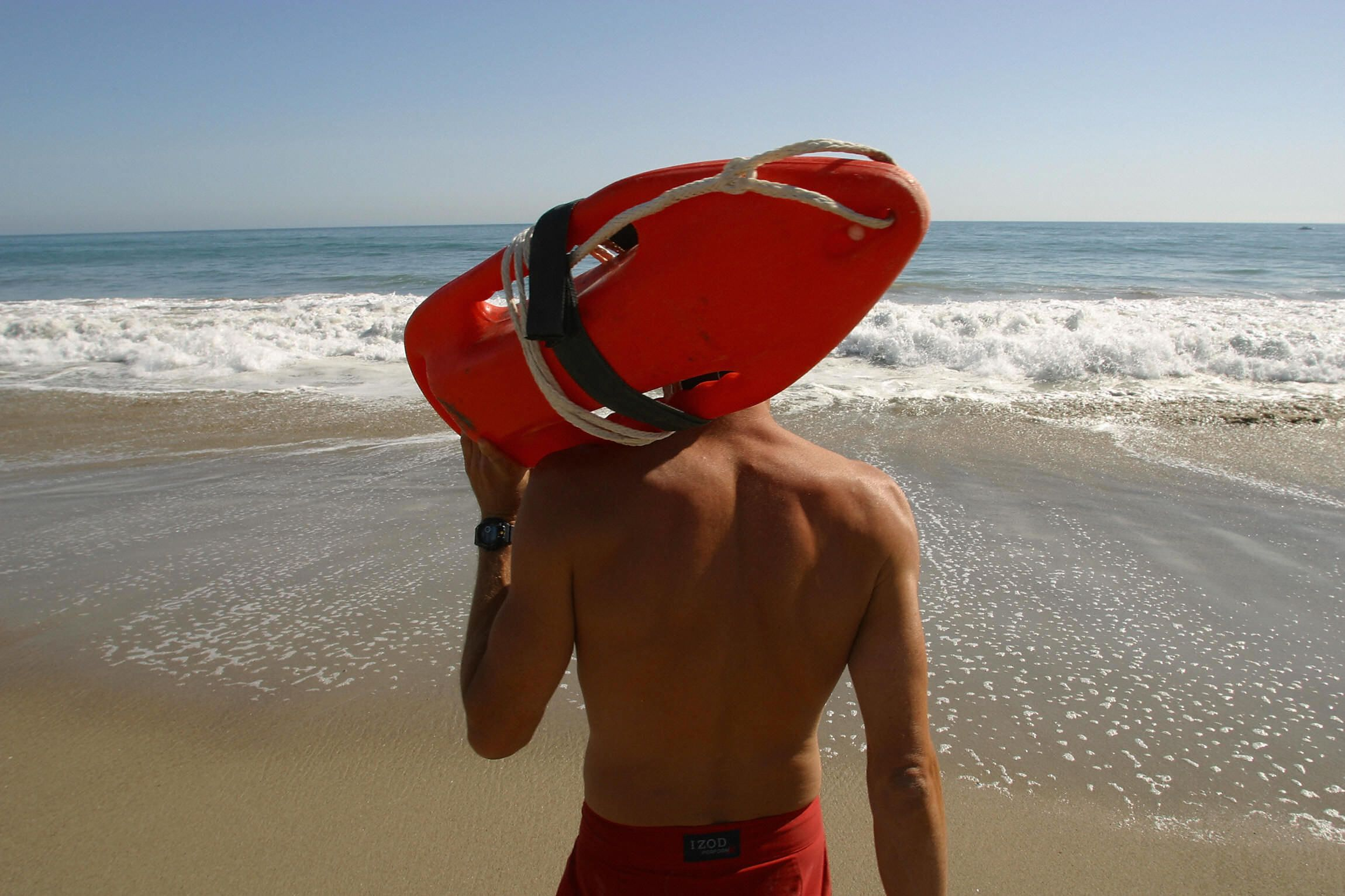 Beach Lifeguard On Patrol Stock Photo - Download Image Now