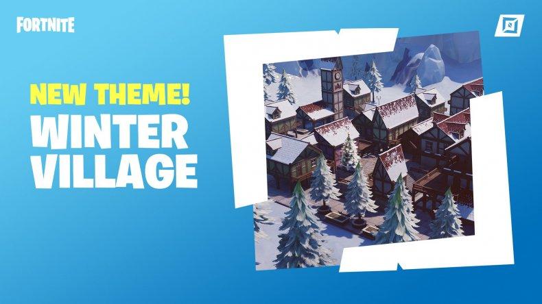Fortnite Creative Winter Village