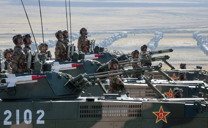 Chinese soldiers Vostok drill Russia