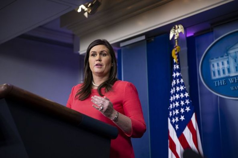sarah huckabee sanders press briefing november