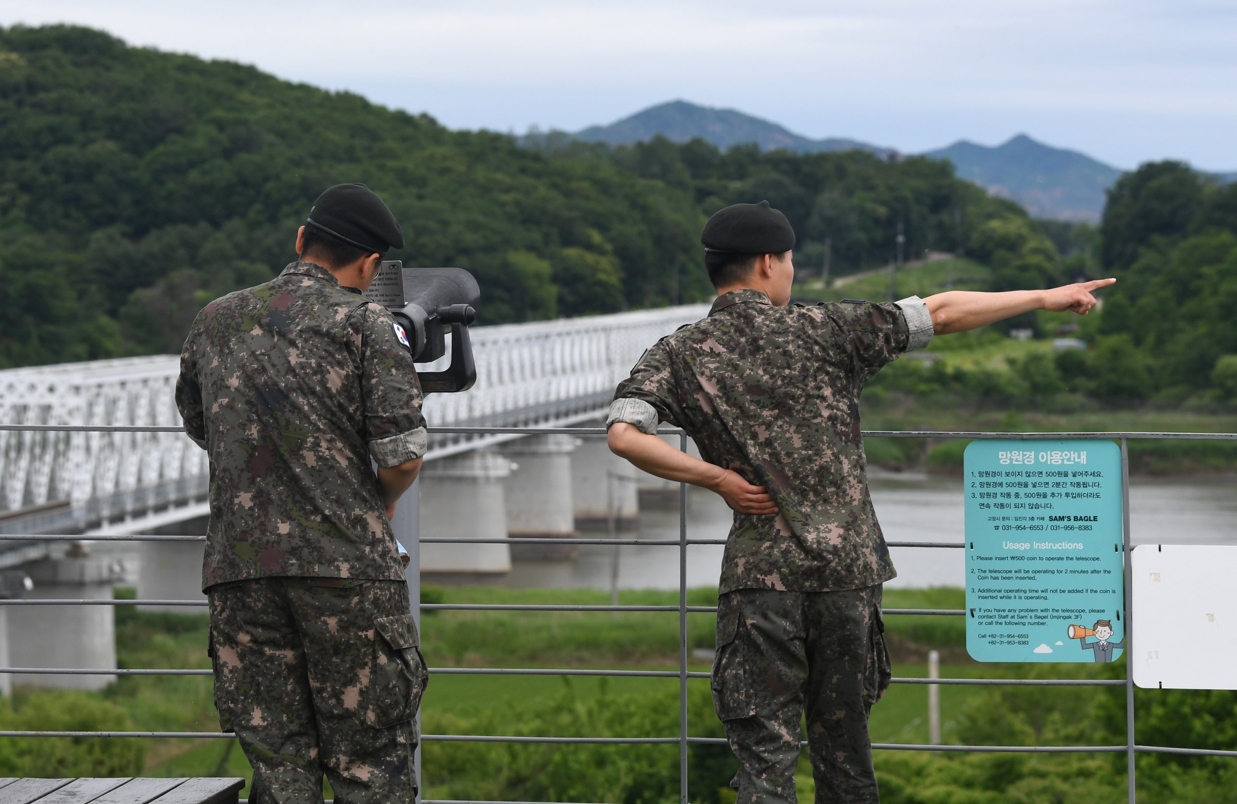 South Korea border North Korea soldiers