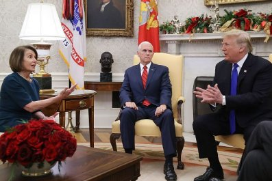 Trump meets with Nancy Pelosi, Chuck Schumer in Oval Office over border security/government shutdown