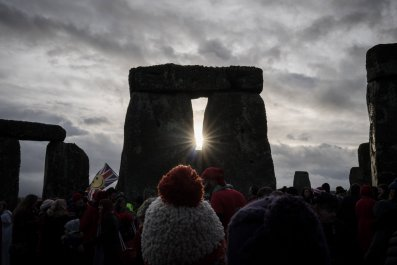 stonehenge winter