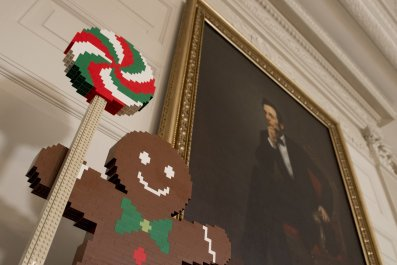 gingerbread man in the white house