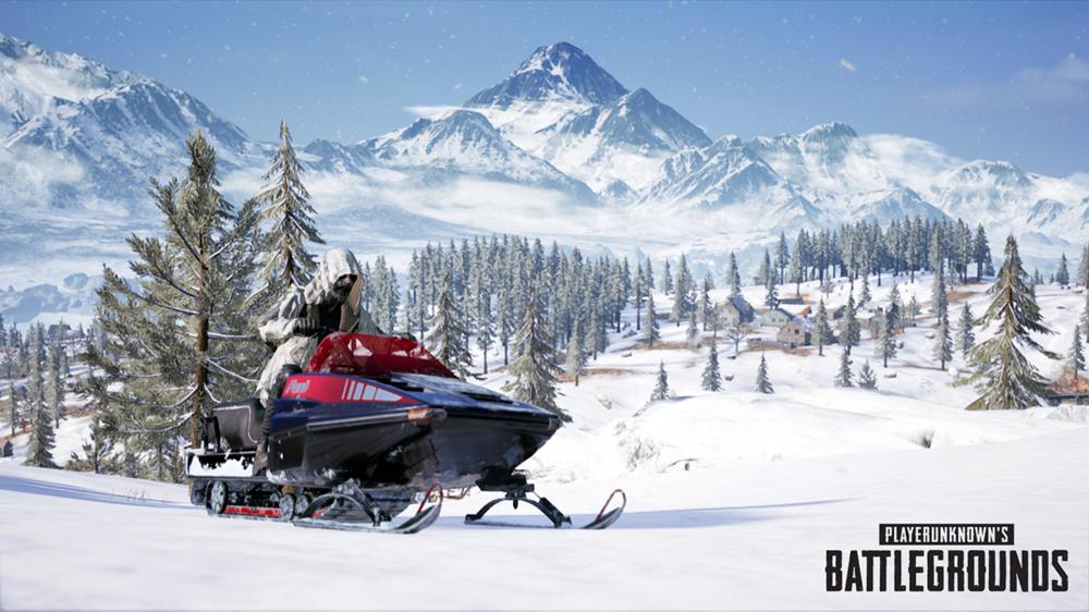 PUBG snowmobiles console pts update