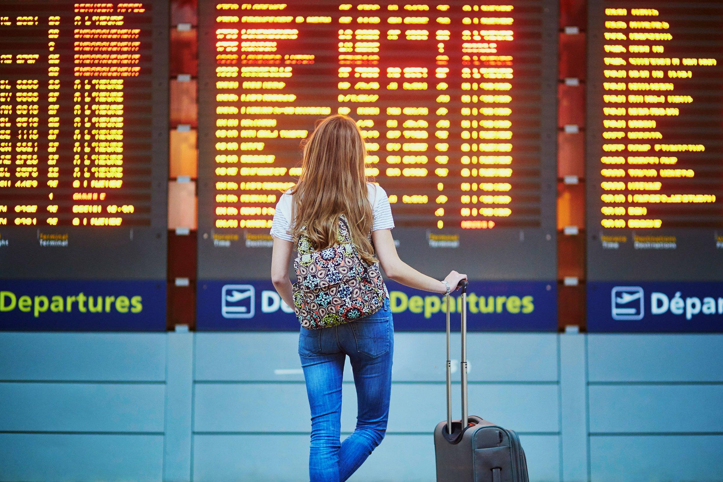 airport delay stock