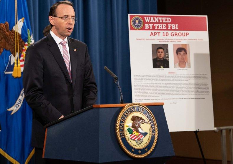 Rod Rosenstein China hackers