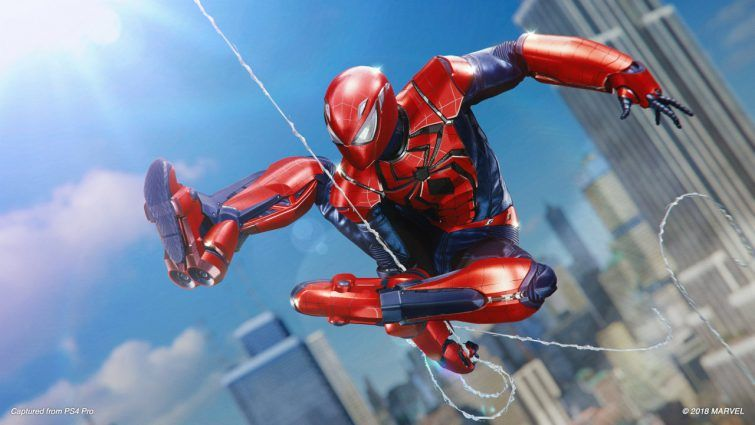 aaron aikman armor suit spiderman ps4 silver lining