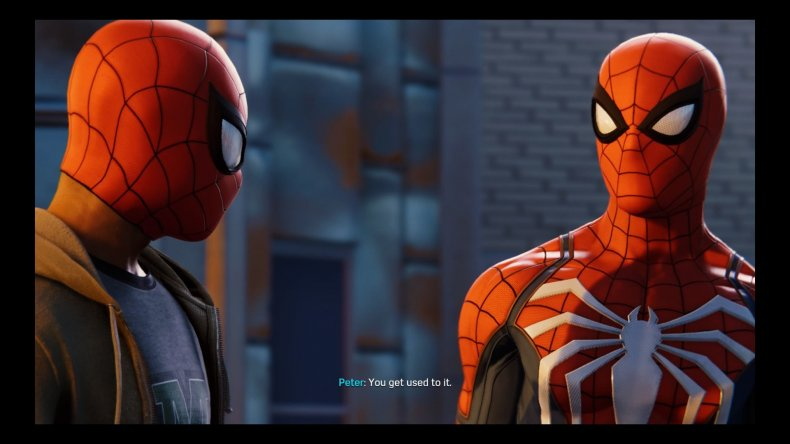 miles and peter spiderman ps4 silver lining