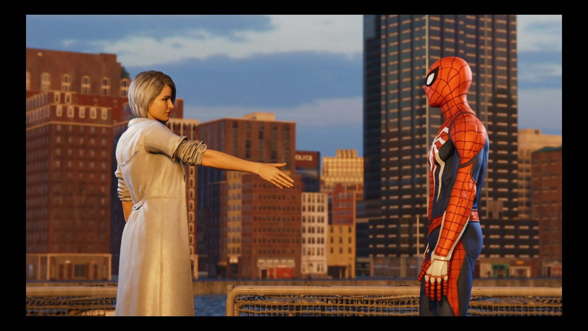 silver sable spiderman ps4 silver lining handshake